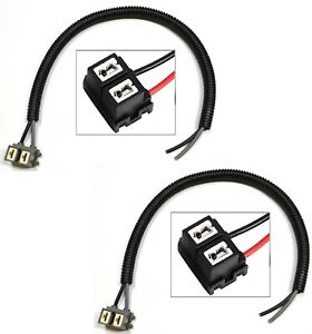 Extension Wire Pigtail Female Ceramic A H7 Two Harness Head Light Hi Beam Socket