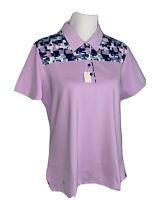 Adidas Golf Purple Polo Shirt UPF 50 Women's Size XL
