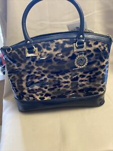 ANNE KLEIN X-LARGE ANIMAL PRINT  BAG w/ BLACK LEATHER TRIM New With Tags
