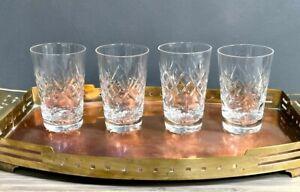 Webb Corbett Crystal Georgian Pattern 4 oz Flat Juice Glass Set of 4 VTG