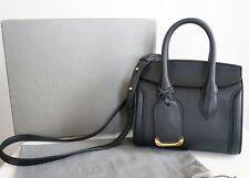 $1990 New ALEXANDER McQUEEN McQueen *HEROINE 21* Black Leather Satchel Tote Bag