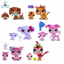 Littlest Pet Shop Mother & Baby Pet Pairs: SET OF 6 (Dachshund, Tiger, Poodle+)