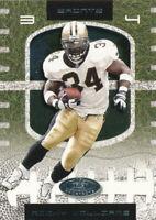 Ricky Williams 2001 Fleer Hot Prospects #34 New Orleans Saints football Card