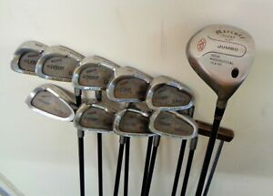 Mens Golf Package Set Includes 22 Degree Wood and 3-SW Irons Graphite (10 Clubs)