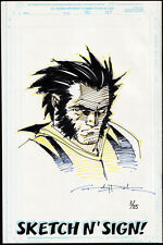 MARVEL SKETCH 'N' SIGN ANDY PARK LOGAN WOLVERINE ZEICHNUNG SKETCH COA ZERTIFIKAT