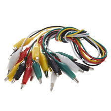 10 pcs 5-Color Double Ended Alligator Clips Test Lead JumPer Wire 48cm 1.6 Ft AD