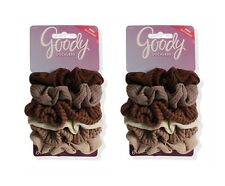 Goody Ouchless Nude Assorted Scrunchie Hair Ties 2 Packs of 6 -- 12 Total!