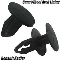 10x  Renault Kadjar 8mm Wheel Arch Splash Mud Guard / Radiator Trim Lining Clips
