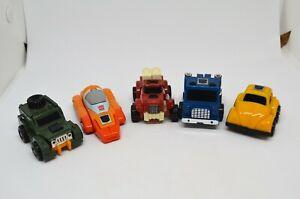 Transformers Minibots G1 Lot Bumblebee Brawn Wheelie Pipes Swerve 1983-1985