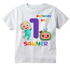 Cocomelon Custom t-shirt Personalize Birthday gift Add NAME Coco Melon JJ baby