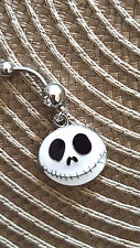 Jack Nightmare  Belly Ring Navel Ring 14G Surgical Steel Dangle