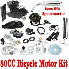 80cc 2 Stroke Petrol Gas Engine Motor Kit Set Motorized Bicycle Bike Speedometer