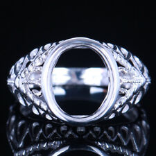 Vintage Wedding Solitaire Generous Ring 8.75mmx10.75mm Oval Sterling Silver 925