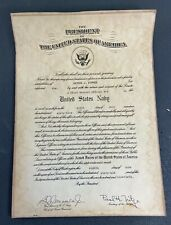 1966 Us Army Chief Warrant Officer 4 Promotion Certificate