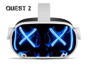 Vinyl Skin to fit Oculus Quest 2 - Blue Hoody / Decal / Skin