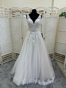 BNWT Ladybird wedding dress size 10.  SaImon/ivory lace ballgown with straps