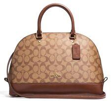 New Coach 58287 Sierra Satchel Signature PVC handbag Khaki / Saddle 2