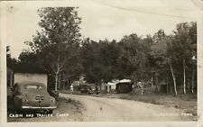 Old Real Photo Postcard -Cabin & Trailer Camp - Thurstonia Park Dunsford Ontario
