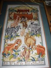 NEW Bucilla Noah's Ark Cross Stitch Kit Nancy Rossi New Lions Zebras Elephant Ca
