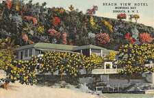 Jamaica British West Indies Montego Bay Beach View Hotel Antique Postcard K64089