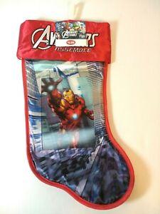 "17"" Christmas Stocking Iron Man Avengers Hologram Christmas Marvel NEW"