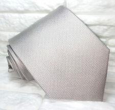 Luxury Solid light Gray necktie  Made in Italy silk Morgana brand