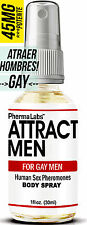 El Secret para atraer HOMBRES Body Spray para Gay Hombres - 1 oz *PhermaLabs 45m