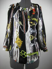 Diane von Fustenberg silk multi colored 3/4 sleeves blouse/top 4