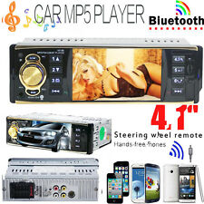 "4.1"" HD 1 DIN In-Dash Bluetooth Car Stereo Android USB FM Radio MP3 MP4 MP5 Play"