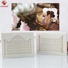 3D Door Gate Silicone Fondant Mould Cake Decorating Sugarcraft Baking Mold Tool
