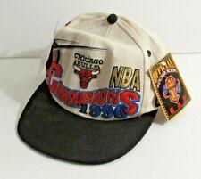 Chicago Bulls 1996 NBA Champions Official Locker Room Snapback Hat Cap NWT A12