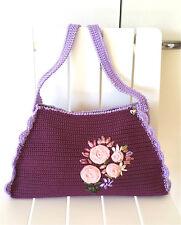 Self-made DIY bag  thread  Crochet Hand bag Messenger Bags Sling Shoulder Bag
