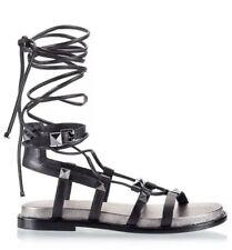 Ash Magnum Black Studded Gladiator Sandals RRP £240 Size4
