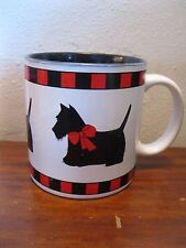 Scottie Dog black dog Red Bow Mug Cup by Department 56