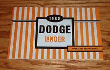 1962 Dodge Lancer Owners Operators Manual 62