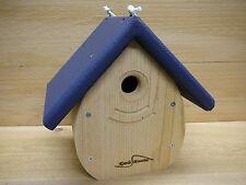 Kettle Moraine Tear Drop Nestbox Wren & Chickadee Bird House navy roof 9100