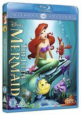 The Little Mermaid [Blu-ray Movie Disney, Animated Princess Ariel, Flounder] NEW