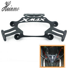 For YAMAHA XMAX300 250 Motorcycle Stand Holder Phone GPS Plate Mirror Bracket BK