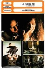 FICHE CINEMA : LE FESTIN NU - Weller,Davis,Holm,Cronenberg 1991 Naked Lunch