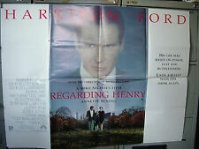 REGARDING HENRY: CINEMA MOVIE FILM POSTER: UK QUAD 1991: HARRISON FORD