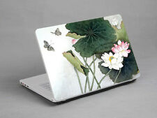 "15.4"" Laptop Notebook Skin Sticker Cover Art Decal Lotus Painting Sony Toshiba"