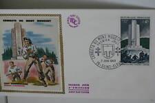 ENVELOPPE PREMIER JOUR SOIE 1969 COMBATS MONT MOUCHET