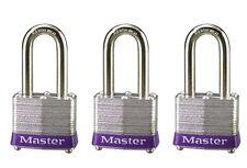 Master Lock 3TRILF Keyed-Alike Padlock 1-1/2-Inch Shackle 1-9/16-Inch Wide 3-LOT