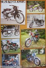 """SUZUKI CLASSIC MOTORCYCLES POSTER """"8 MODELS"""" - JAPANESE MOTORBIKES & CYCLES"""