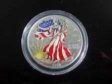 1999 Painted American Eagle Walking Liberty Silver Dollar.