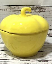 Vintage Yellow Bell Pepper Dish With Lid California Pottery 48 Preowned