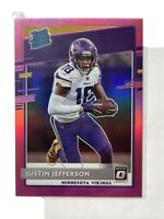 2020 Donruss Optic Justin Jefferson Rated Rookie Pink Holo Prizm RC SP Vikings