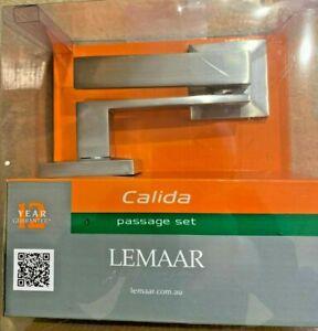 Lemaar CALIDA PASSAGE SET Door Handle - SATIN CHROME - NEW