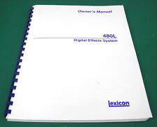 Original Lexicon 480L Digital Effects System Owner's Manual V4.0. MM