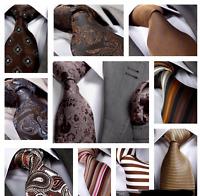 BROWN / CHOCOLATE / BRONZE SILK TIE - Italian Designer Milano Exclusive